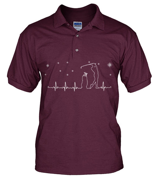 Golf Heartbeat polo T Shirts-Apparel - AllGolfUSA.COM