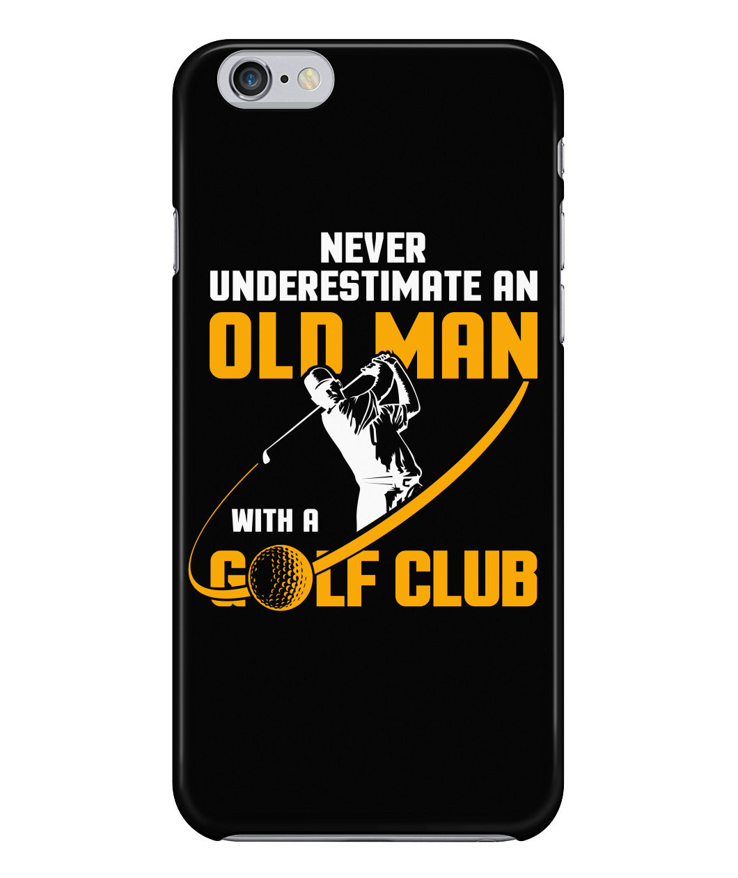 Old man golf club phone case