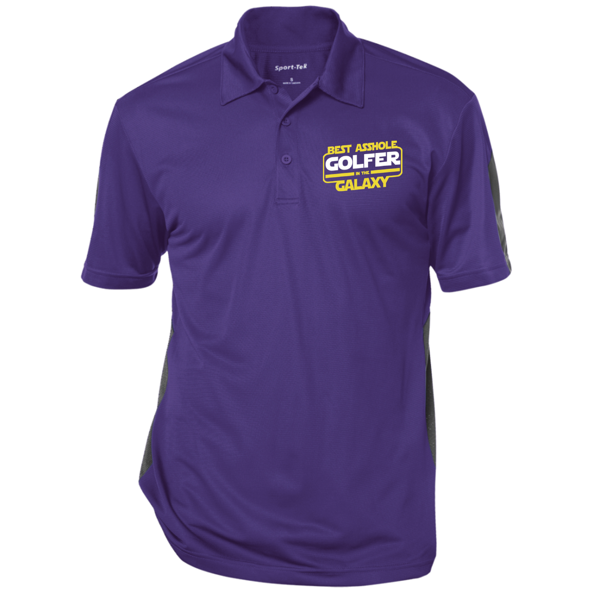 Best Asshole golfer in the galaxy Sport-Tek Performance Textured Three-Button Polo