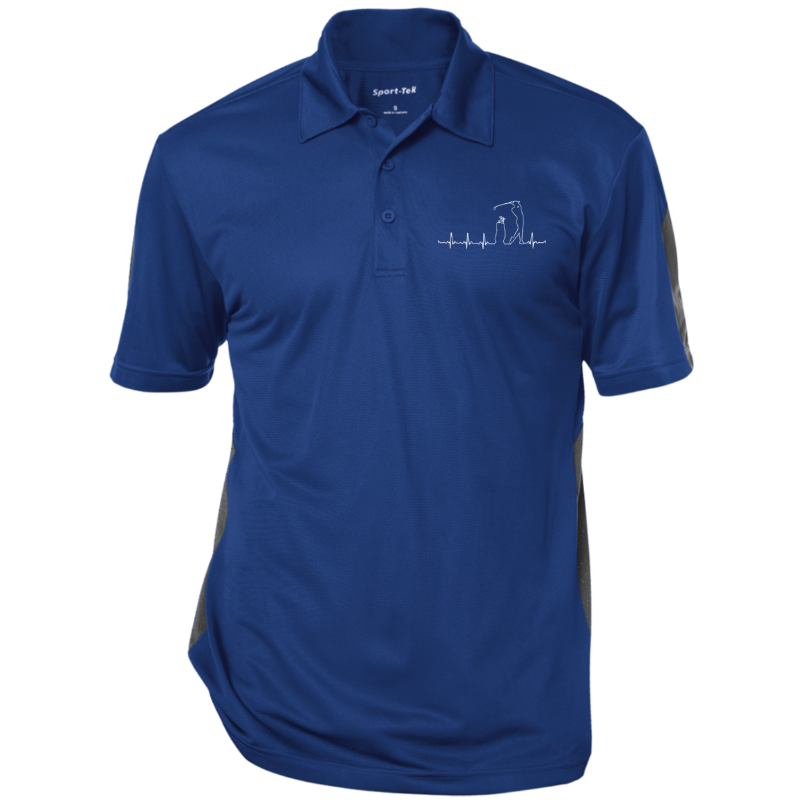 Golf Heartbeat ST695 Sport-Tek Performance Textured Three-Button Polo