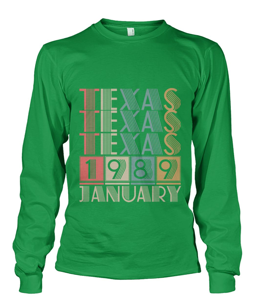 Born in Texas in January 1989 t shirt-Short Sleeves - TEEHOT.COM