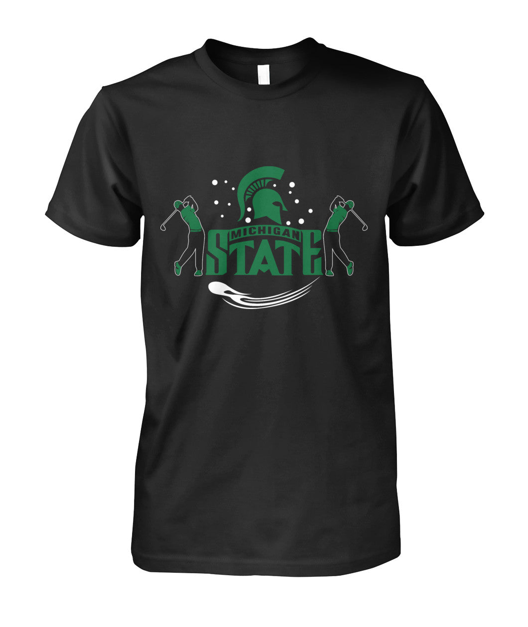 Michigan state funny golf shirt Unisex Cotton Tee