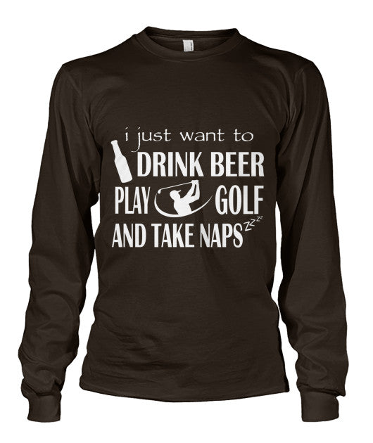 Drink Beer Play Golf T Shirts