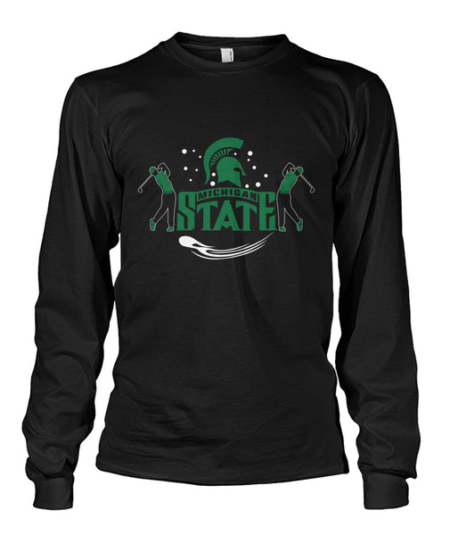 Michigan state funny golf shirt Unisex Long Sleeve-Long Sleeves - AllGolfUSA.COM