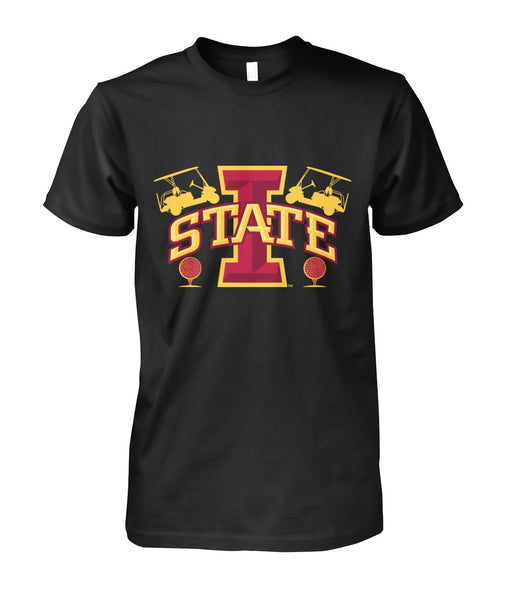 Iowa state funny golf shirt Unisex Cotton Tee-Short Sleeves - TEEHOT.COM