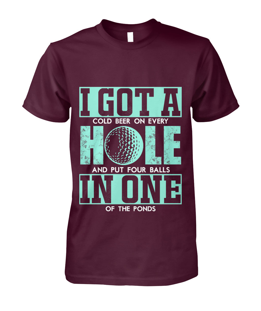 I got a hole in one shirt Unisex Cotton Tee-Short Sleeves - AllGolfUSA.COM
