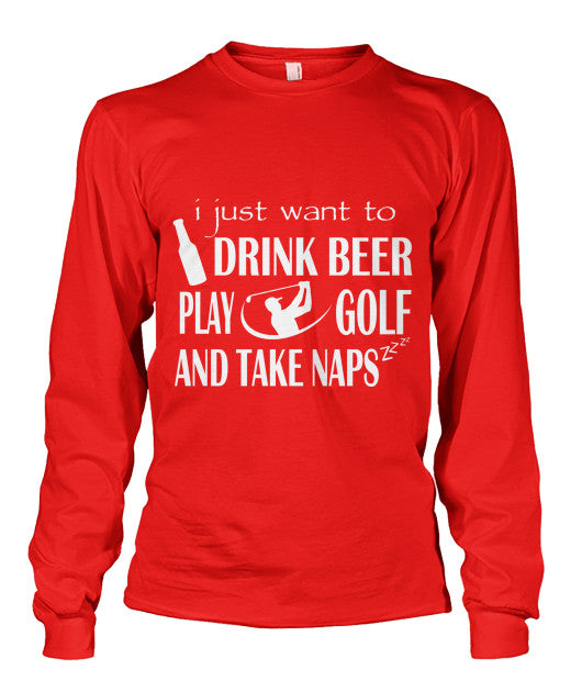 Drink Beer Play Golf T Shirts-Apparel - TEEHOT.COM