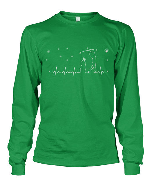 Golf Heartbeat T Shirts-Apparel - AllGolfUSA.COM