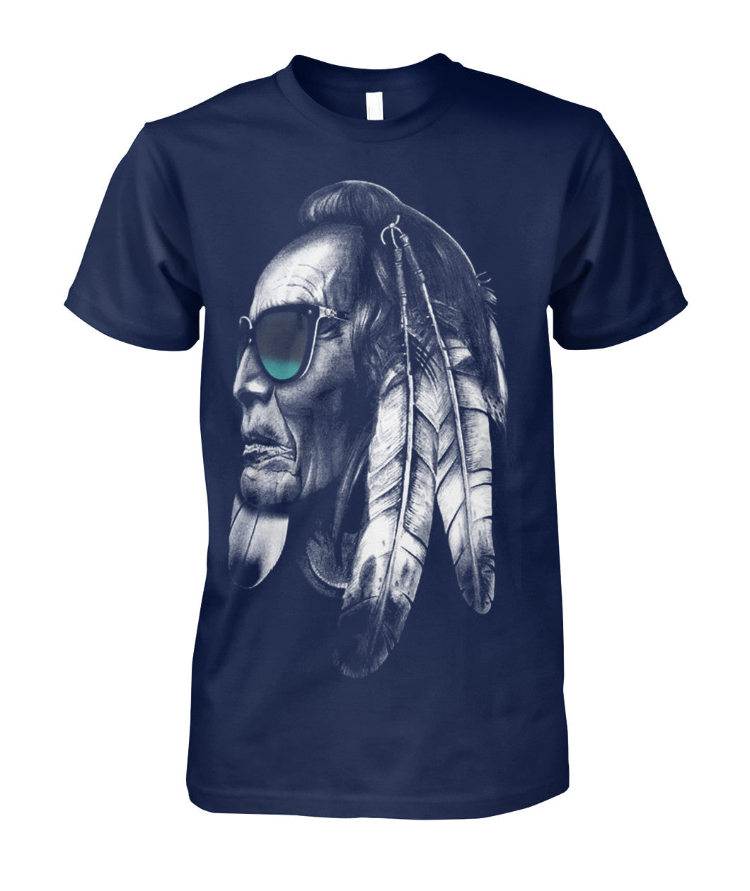 chief red cloud with glass shirt-Short Sleeves - TEEHOT.COM