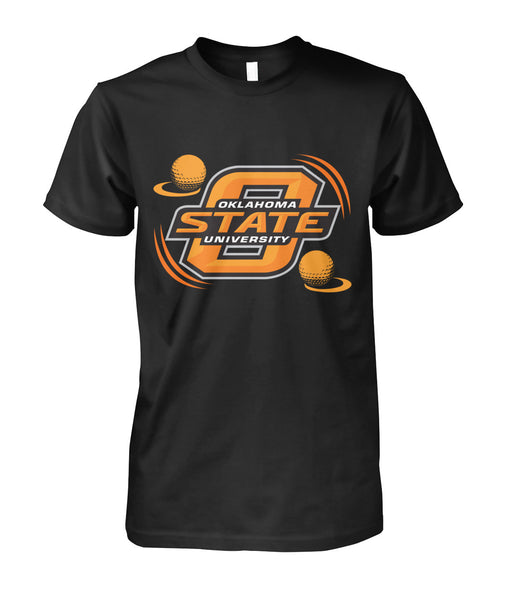 Oklahoma state funny golf shirt Unisex Cotton Tee-Short Sleeves - AllGolfUSA.COM