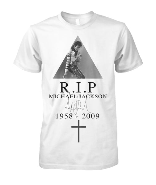 RIP Michael Jackson 1958-2009 t shirt-Short Sleeves - AllGolfUSA.COM