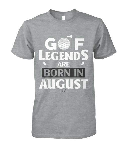 Golf legends are born in august Unisex Cotton Tee-Short Sleeves - TEEHOT.COM