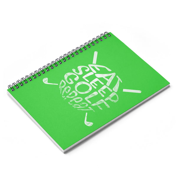 Eat Sleep Golf Repeat Spiral Notebook - Ruled Line-Paper products - AllGolfUSA.COM
