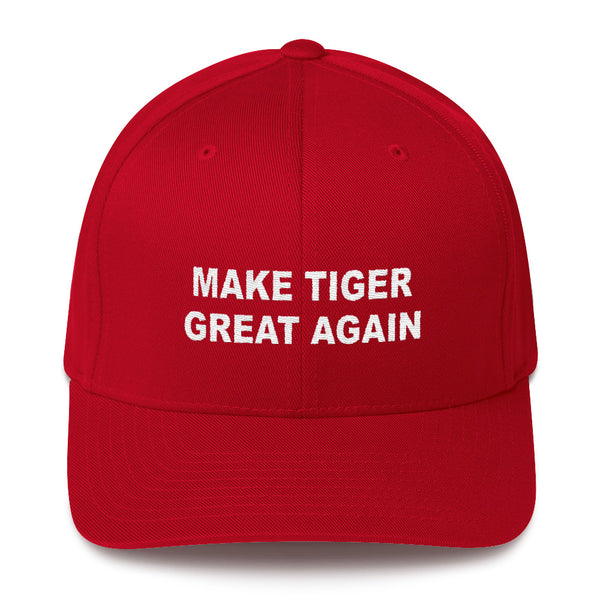 Make Tiger Great Again Structured Twill Cap