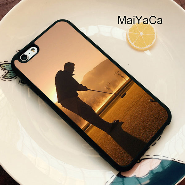 GOLF GOLFER GOLFING SUNSET Soft Case For Apple iphone 6 case- - AllGolfUSA.COM