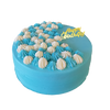 Blue themed birthday cake 蓝白梦幻