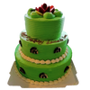 THREE-TIER GREEN THEMED CAKE 三层绿色蛋糕