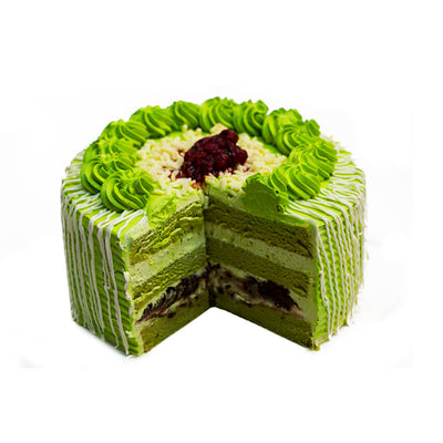 Green Tea Cake (Design #2) 抹茶蛋糕
