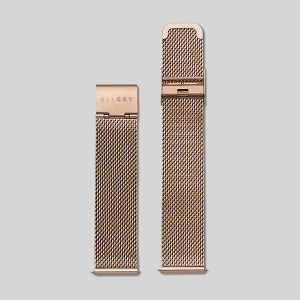 Rose Gold Mesh Watch Strap