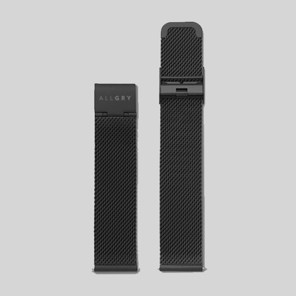 Black Mesh Watch Strap