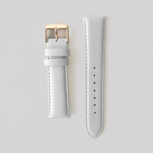 Grey Genuine Leather Strap