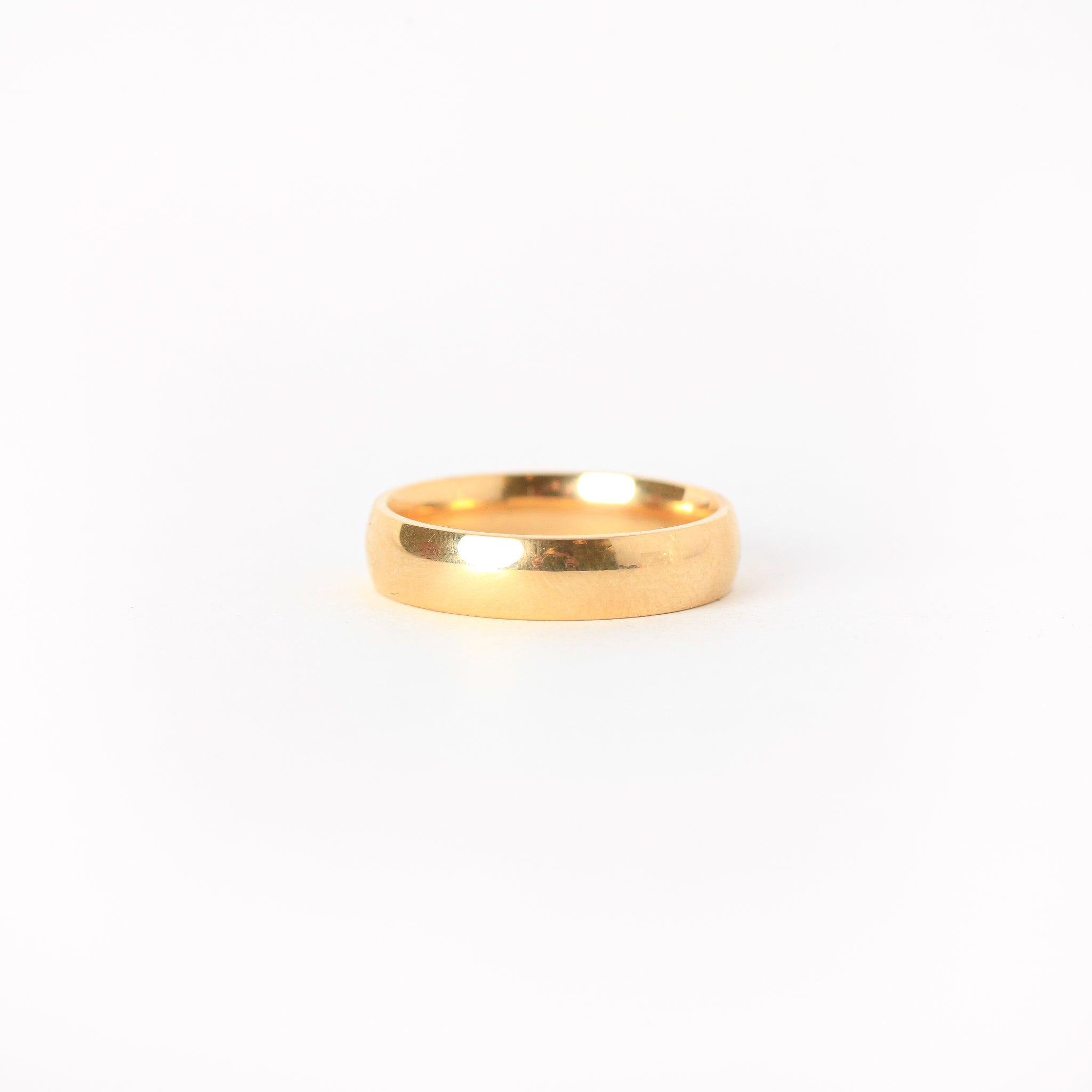 Handmade 18ct Yellow Gold Wedding Band