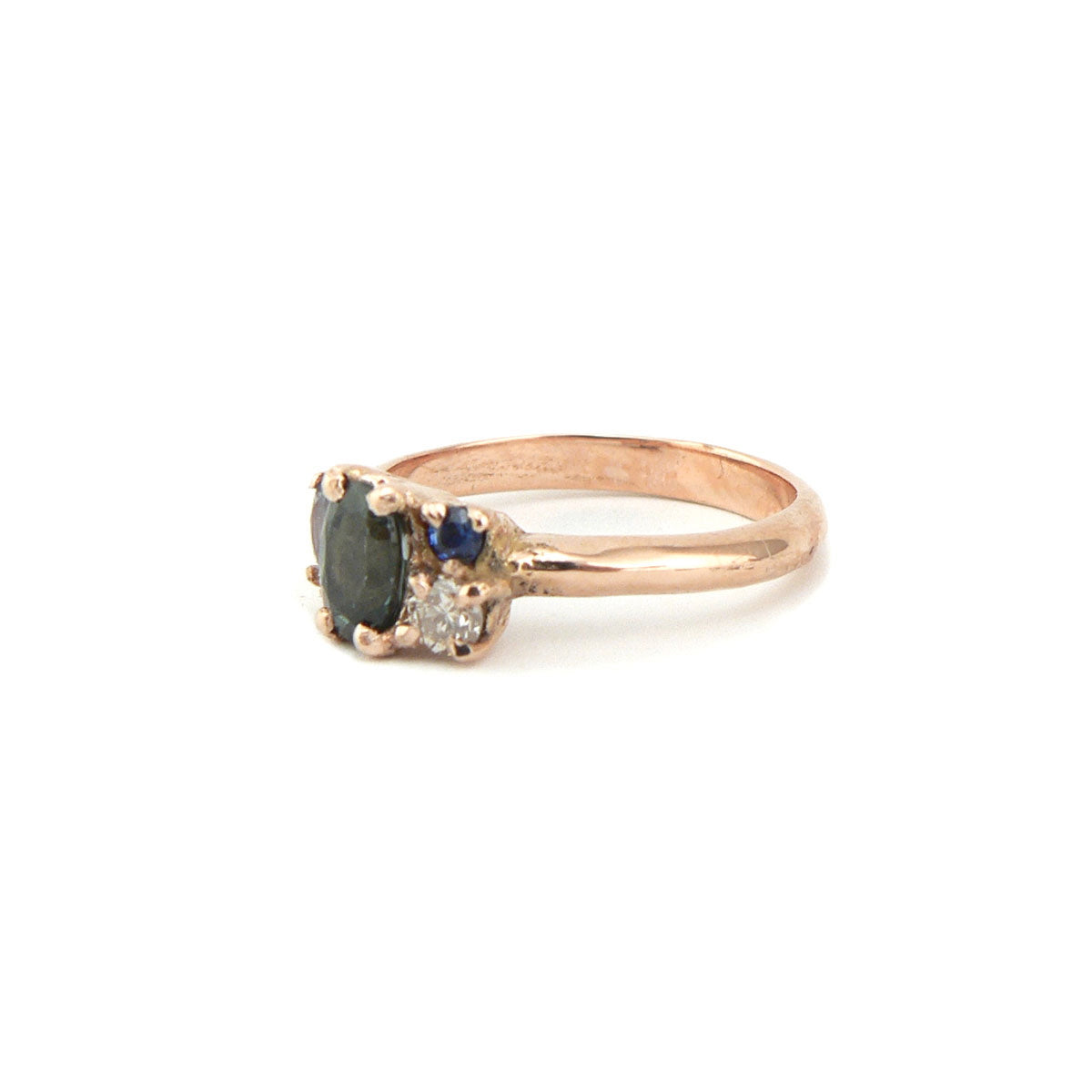 Tidal Sapphire Cluster Ring