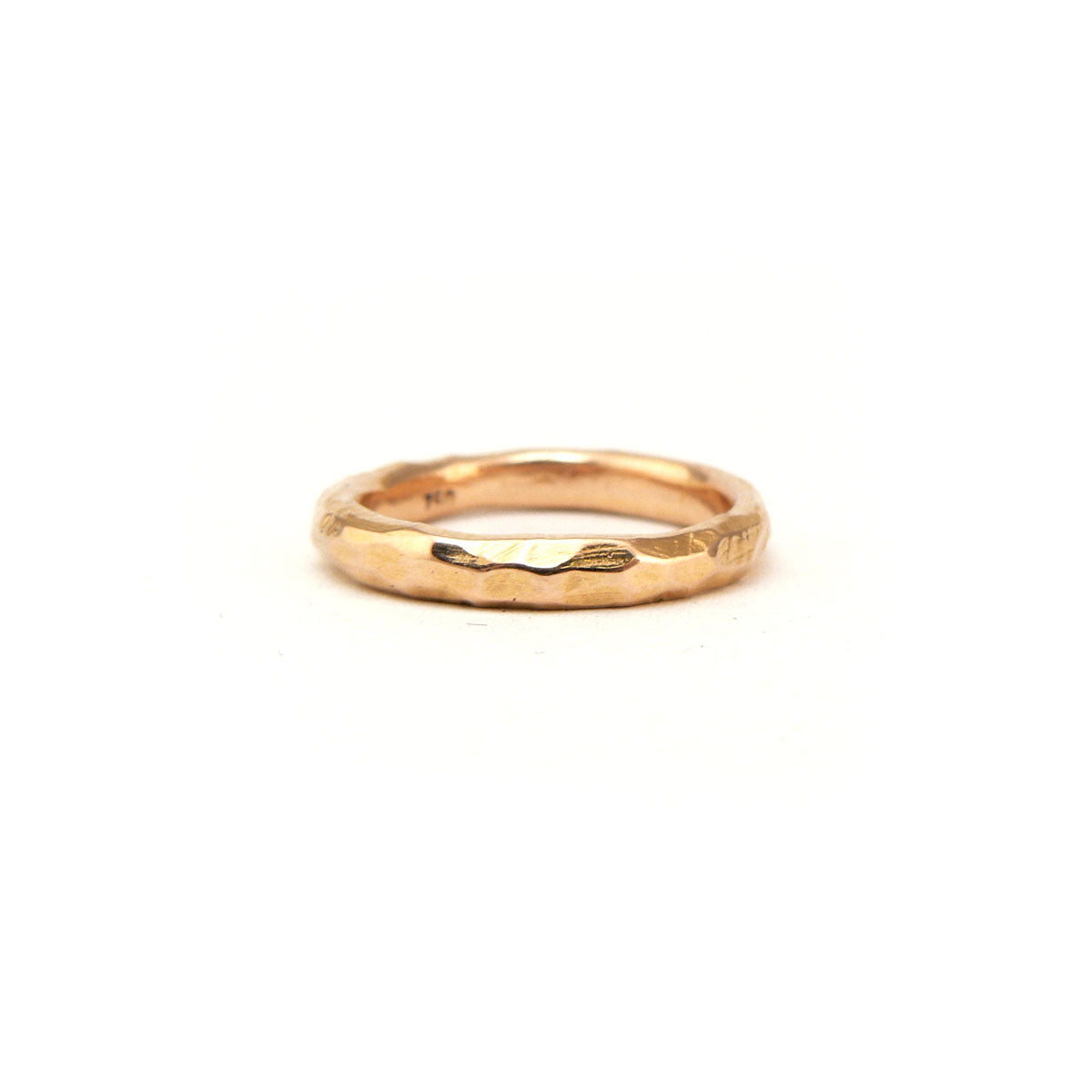 Organic feel rose gold wedding band