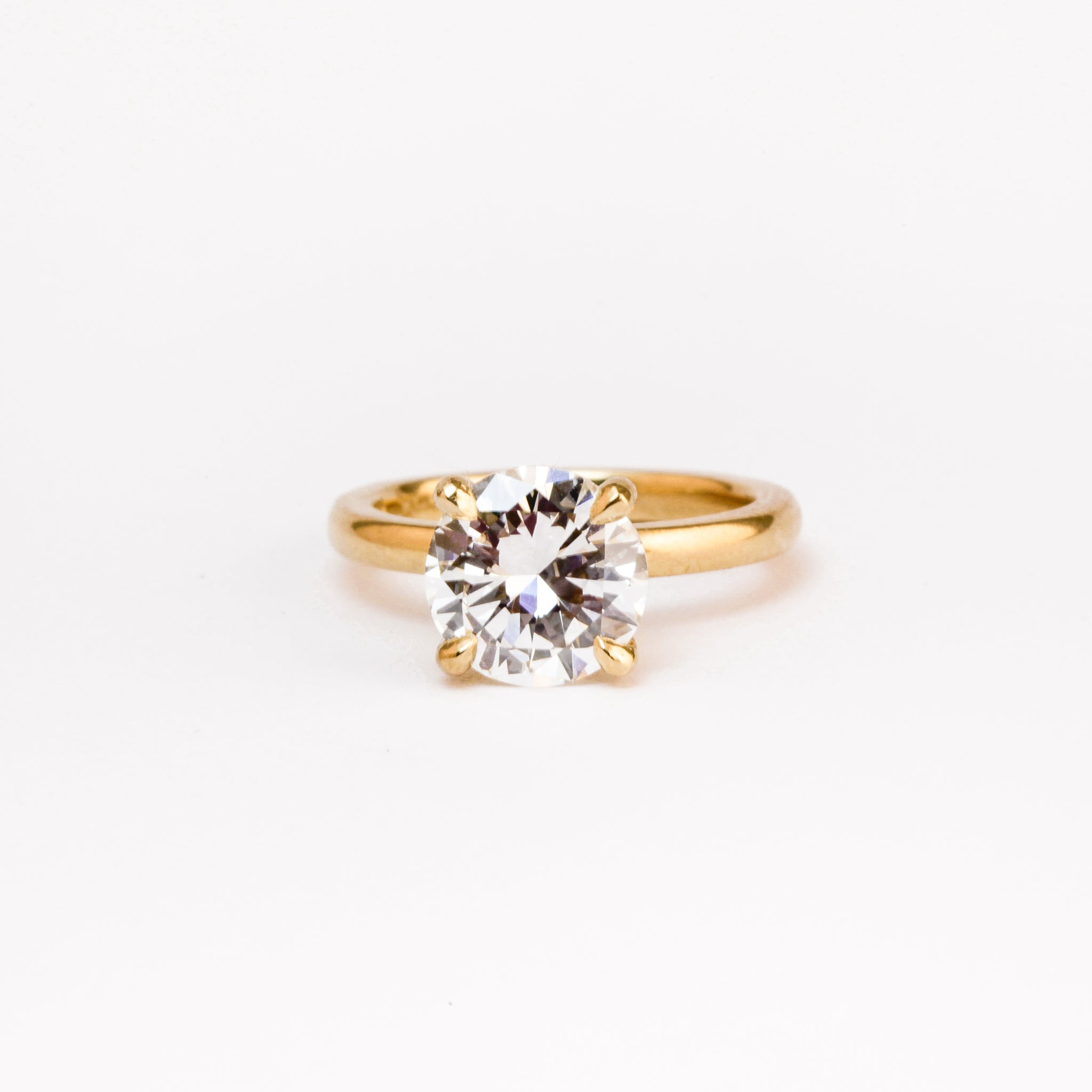 Handmade 1.5 carat Diamond Solitaire Ring in 18ct Yellow Gold, Custom, Bespoke