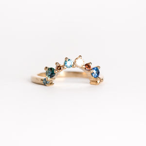 Handmade Ethically Sourced Australian Sapphire and Diamond Ring in 18ct Yellow Gold, Custom, Bespoke