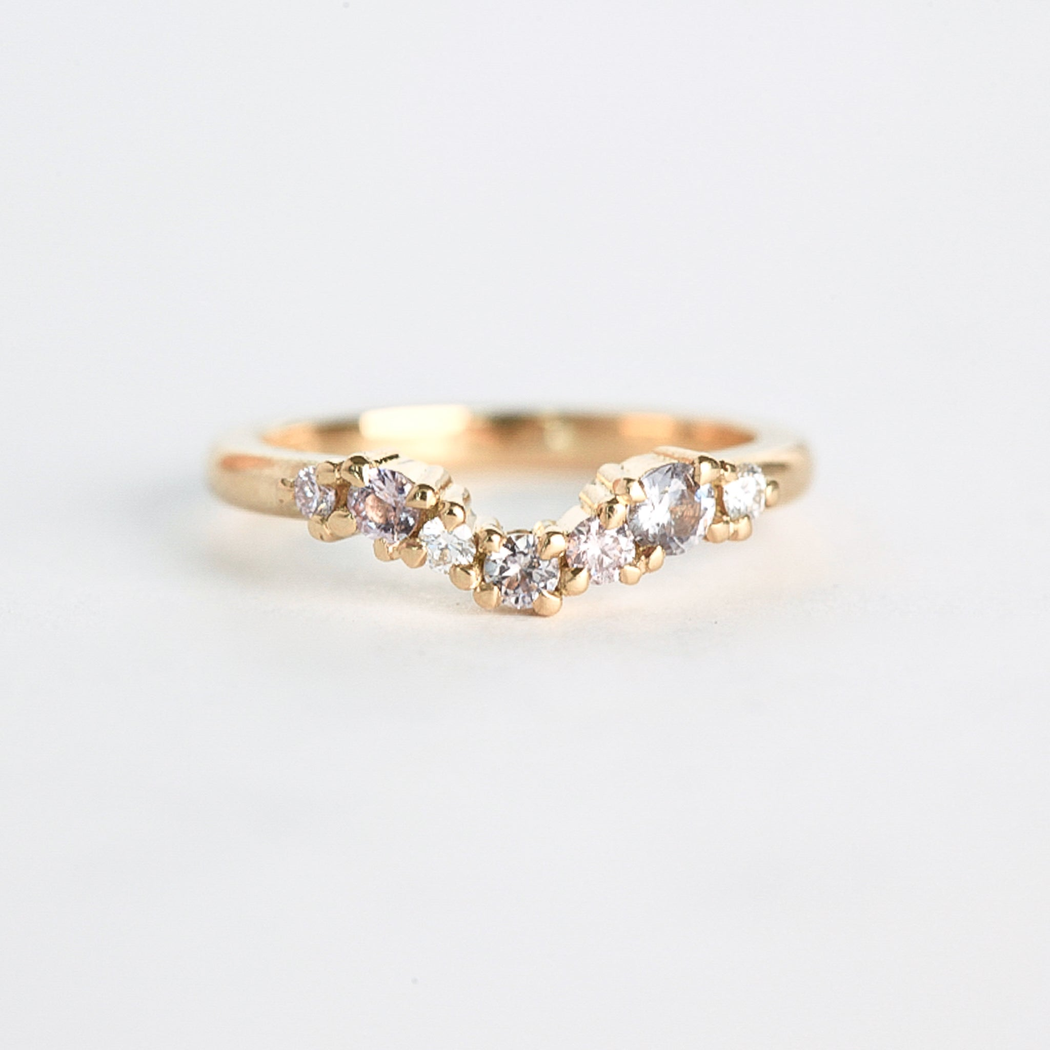 Tiny Mountain diamond Ring