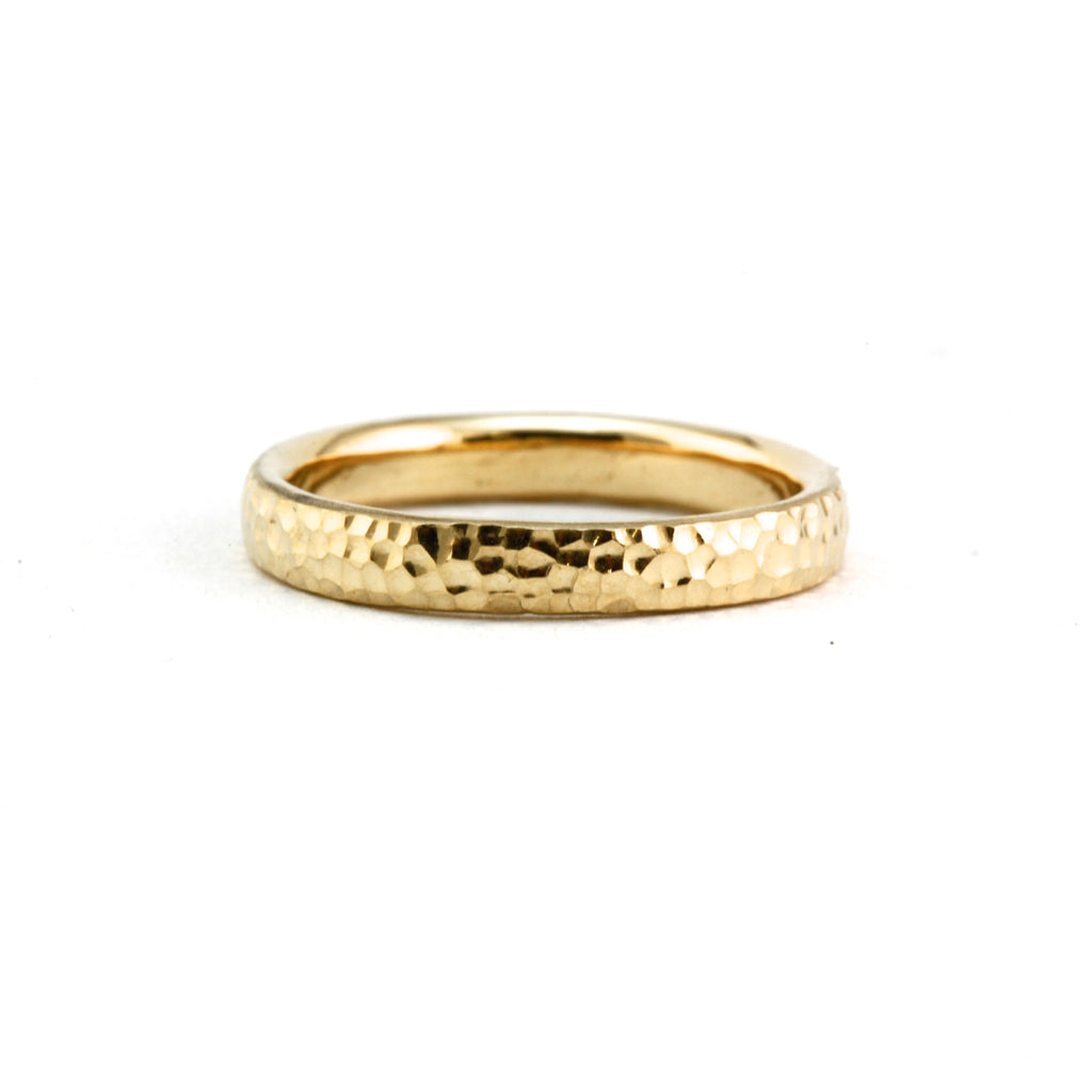 gold mens wedding band textured