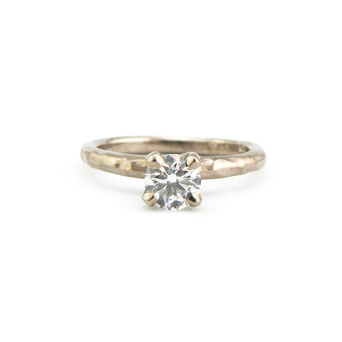 Diamond Solitaire Ring Bespoke Handmade