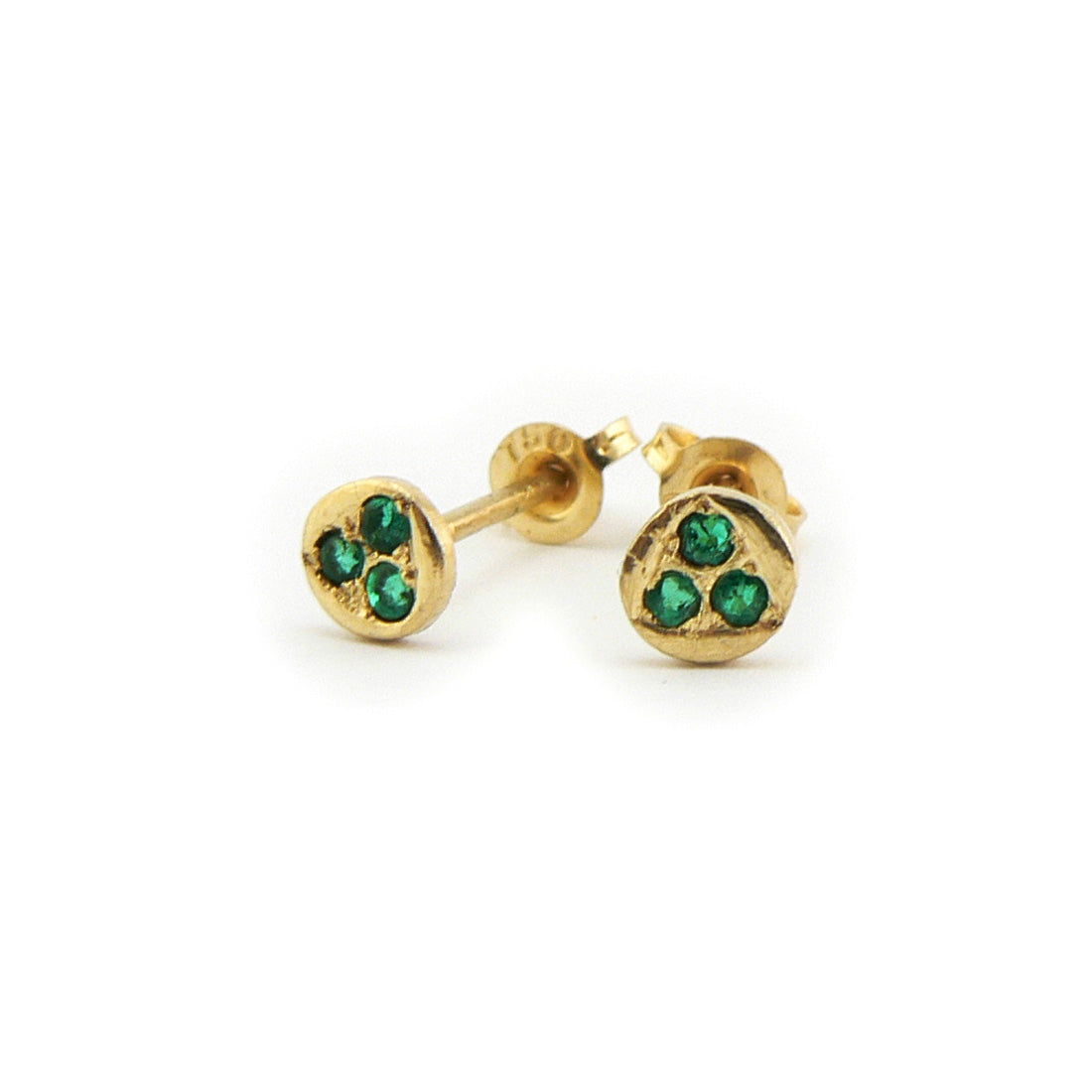 tsavorite earrings in 19ct yellow gold