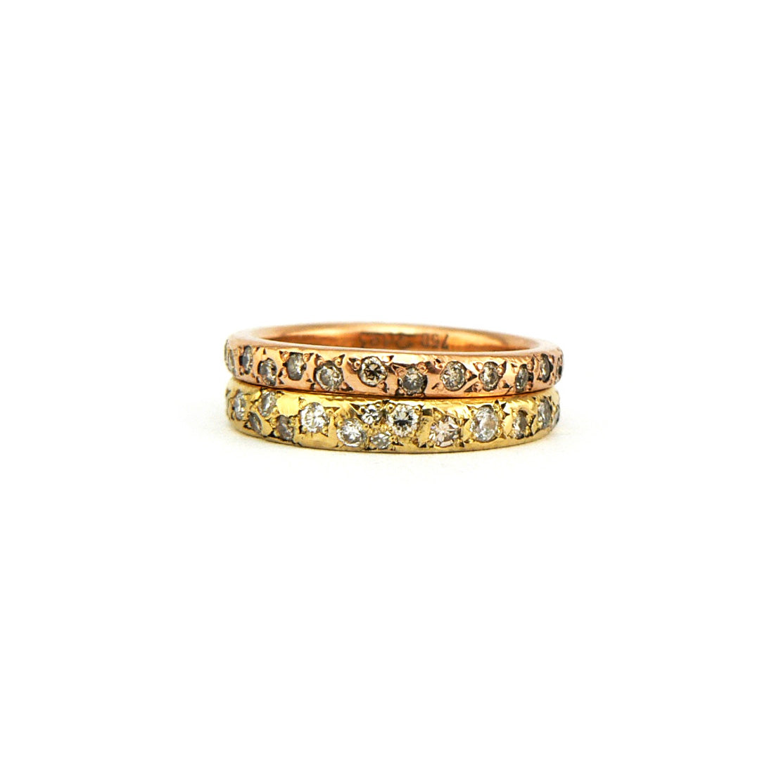 Delicate women's wedding band with diamonds