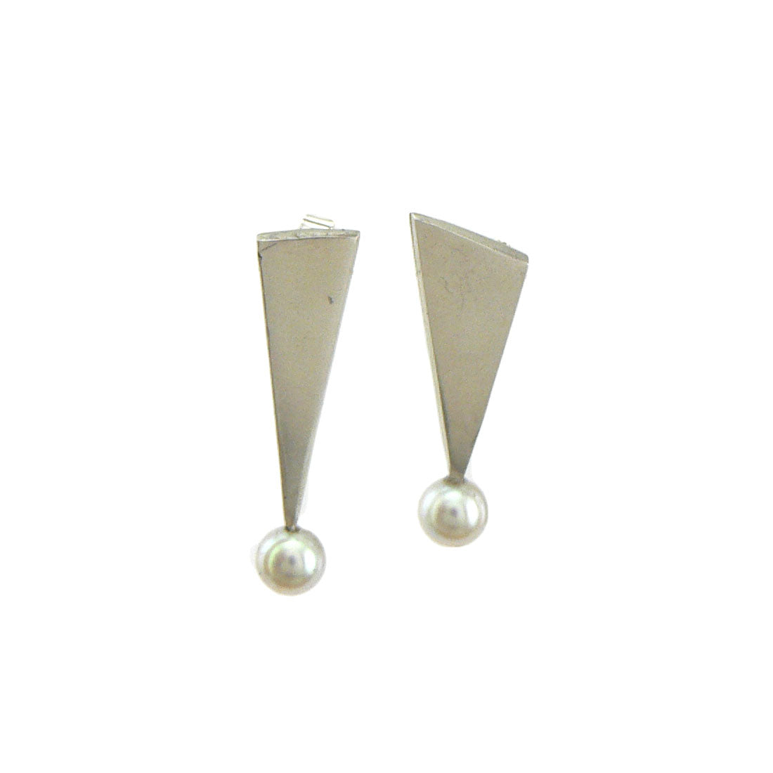 Grey Harlequin Earrings