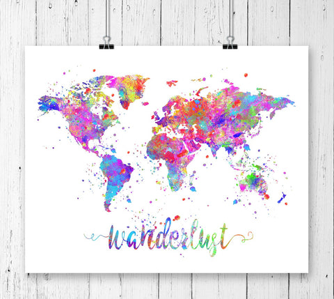 Maps Art Prints - Unframed