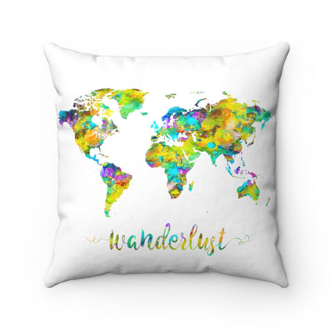 Map Art Square Pillows