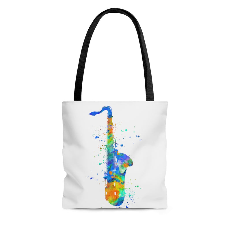 Watercolor Saxophone Tote Bag - Zuzi's