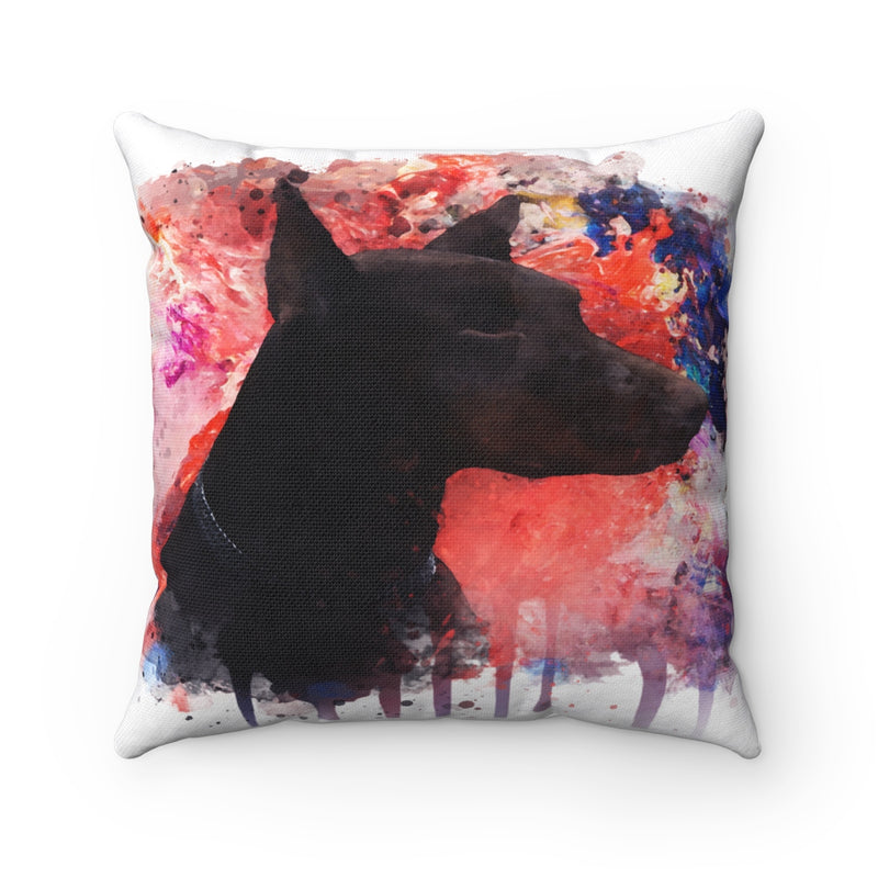 Watercolor Doberman Square Pillow - Zuzi's