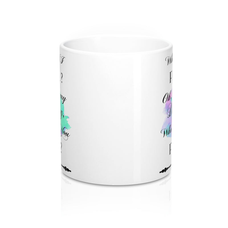 What If I Fall Quote Mug - Zuzi's