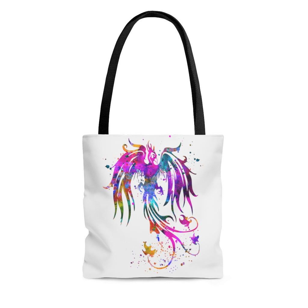 Watercolor Phoenix Bird Tote Bag