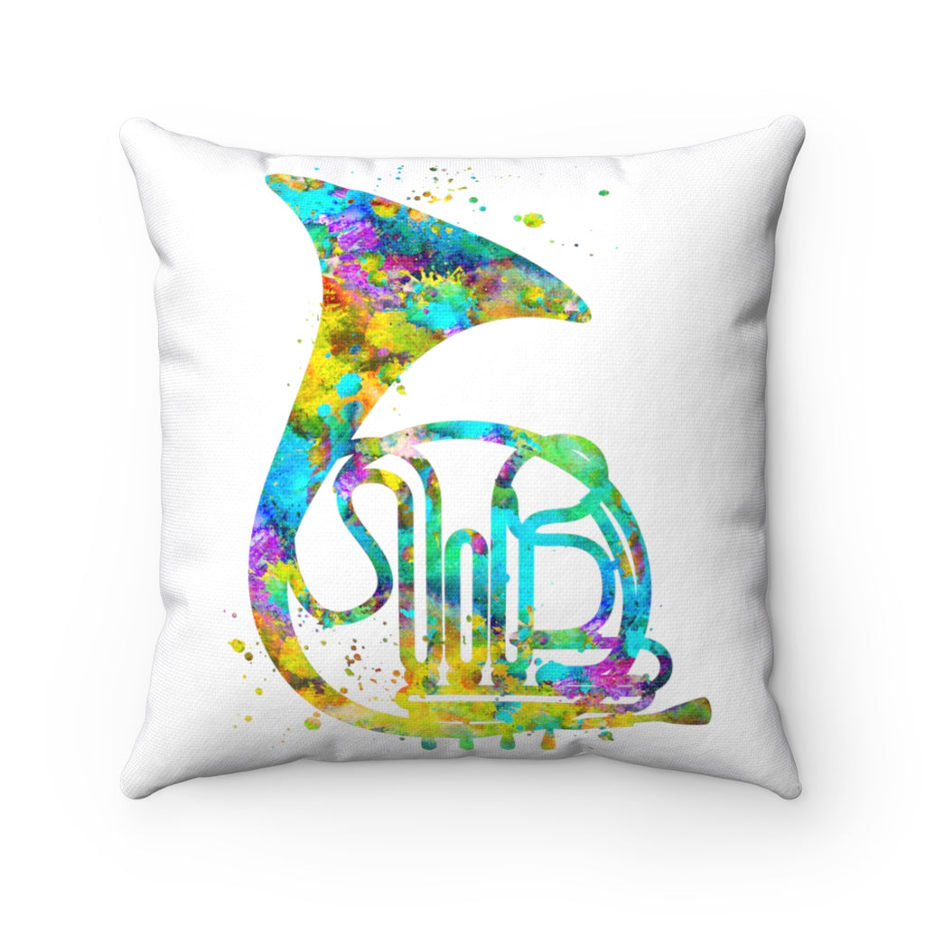 French Horn Square Pillow