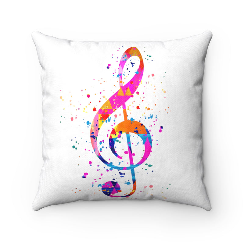 Treble Clef Square Pillow - Zuzi's