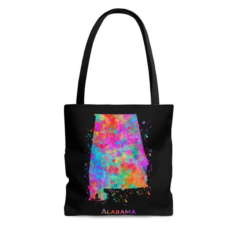 Watercolor Alabama  Map Tote Bag - Zuzi's
