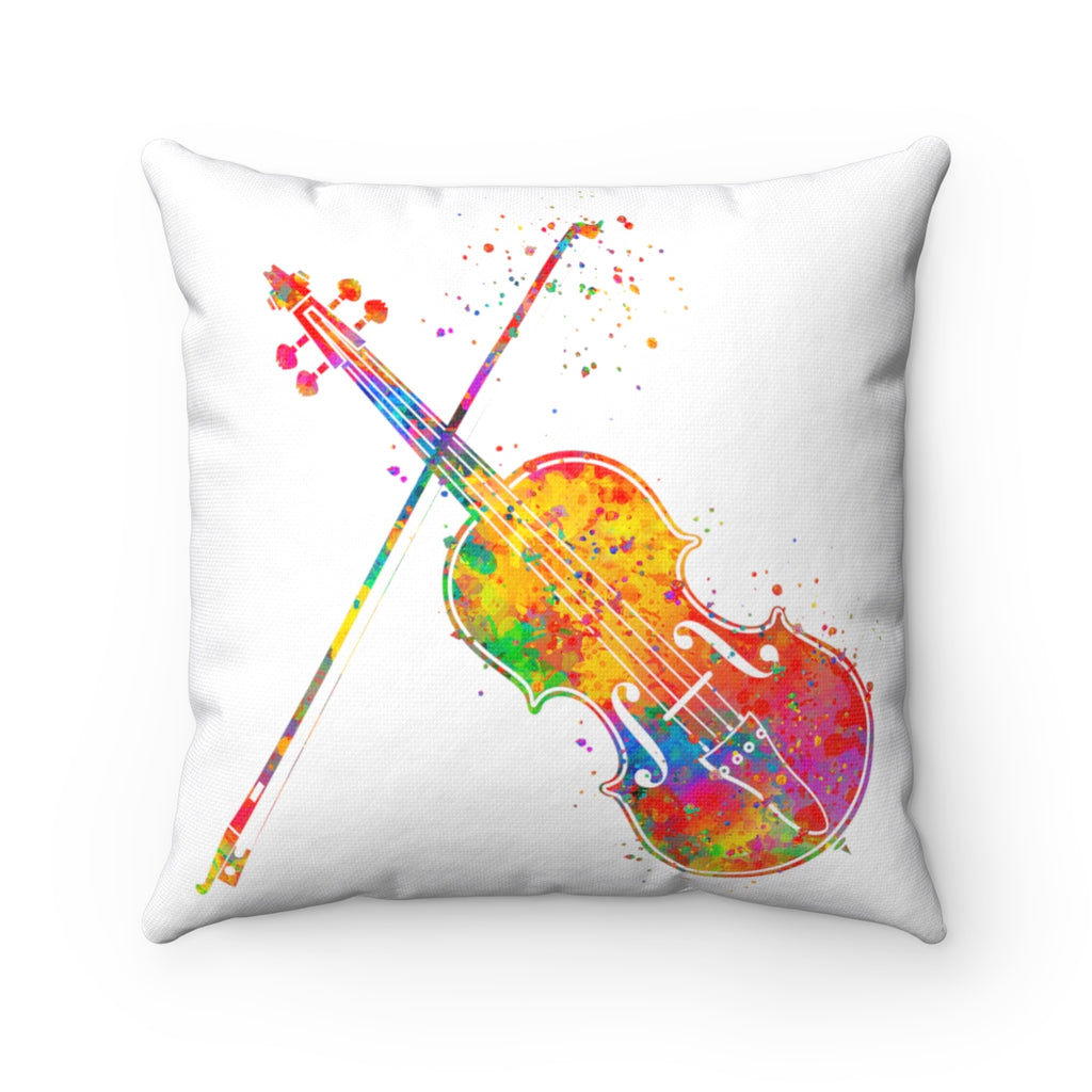 Violin Square Pillow
