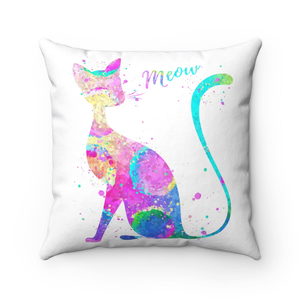 Abstract Cat Square Pillow - Zuzi's
