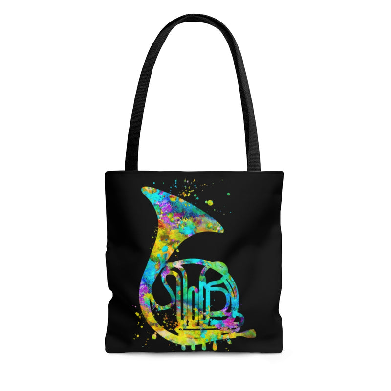 Watercolor French Horn Tote Bag - Zuzi's