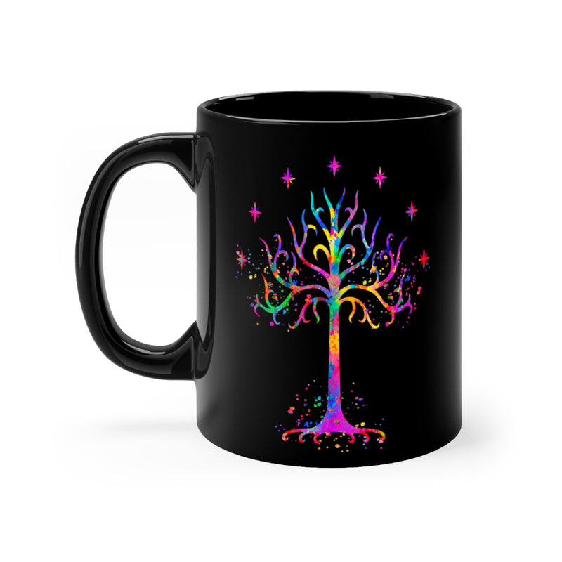 Tree Of Gondor Black Mug 11oz - Zuzi's
