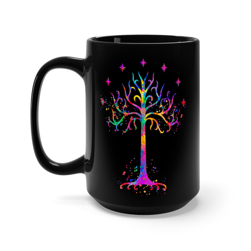 Tree Of Gondor Black Mug 15oz - Zuzi's